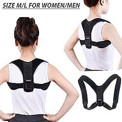 MOKIU Geradehalter zur Haltungskorrektur Rücken Geradehalter Schulter Rückenstütze für Damen und Herren