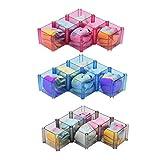 AZWE Scatola di immagazzinaggio Organizer Intimo Calze Cravatte Cinture Sciarpe Organizer Cassetto Ripiano per scaffali Divisorio a nido d'ape Divisori per cassetti Set di 18 Blu Grigio Rosso,A,3set