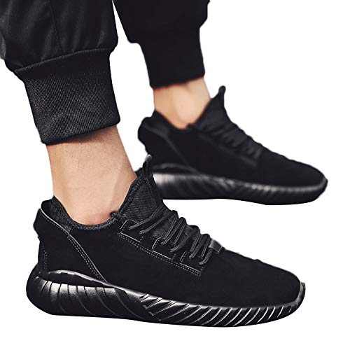 2018 INS Gleiche Sportschuhe Rosennie Mode Männer Hohe Hilfe Weiche Sohle Laufschuhe Turnschuhe Schuhe Herren Fitness Mesh Air Leichte Schuhe Neutral Jungen Basketballschuhe (41, Schwarz A)