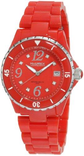 Haurex Italy PR342DR1 - Reloj analógico de cuarzo para mujer con correa de plástico, color rojo