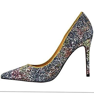 Zormey Damen Sandalen Fr¨¹hling Sommer Herbst Slingback Komfort Neuheit Pu Hochzeit Party & Amp Abendkleid Stiletto Heel Plattform Crystal Heelcrystal US7.5 / EU38 / UK5.5 / CN38