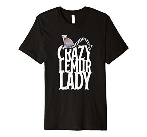 Wieselmaki Lady Crazy Kostüm Shirt Cute Lemuren Frauen Girl Tee (Lemur Kostüm Kind)