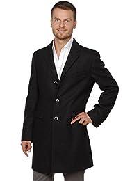 BENVENUTO Herren Mantel Cooper 25183-1254 Wollmischung mit Kaschmirzusatzschwarz leicht meiliert Größen: 48 50 52 54 56