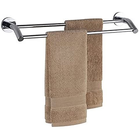 ZDQ- Chrome baño Finalizar Brass Double Bar de toallas