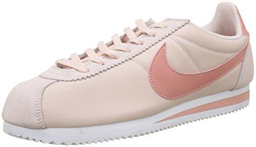 Nike Damen Classic Cortez Nylon Sneaker Marciume (limo Rosso / Rosso Stardust-bianco)