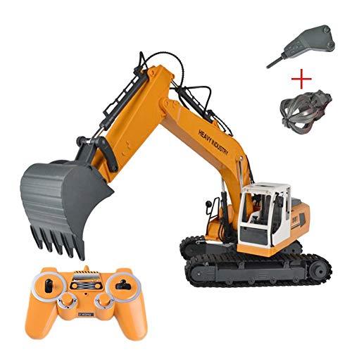 Bagger15 Kanal Full Functional 3 in 1 Fernbedienung Auto RC Auto DIY austauschbare Engineering Fahrzeug Spielzeug Graben Bohren greifen Legierung Bagger Spielzeug Fernbedienung Spielzeug*
