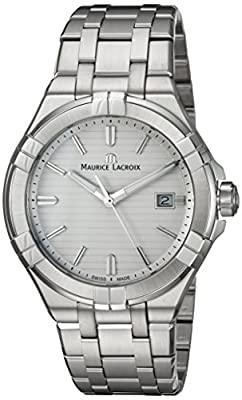 Maurice Lacroix Men's Analogue Quartz Watch with Stainless-Steel Strap AI1008-SS002-131-1