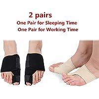 2paires de séparateurs pour orteils (inclus traitement de nuit + jour)
