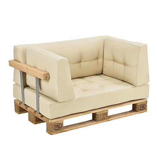 Set de cojines para sof de pal s 1 coj n de for Cojines sofa palets