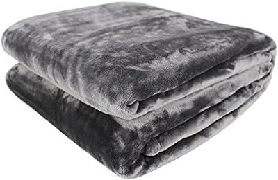 Auralum® Gris 150 X 210CM Manta Polar de Sofa Cama