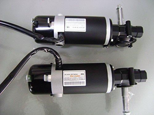 Dixi spazzolato cambio Sedia a rotelle elettrica motore totale 600W con elettromagnetica Freno - Rotelle Elettrica