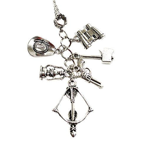 The Walking Dead Charms Halskette – Zombie Anhänger mit Armbrust, -