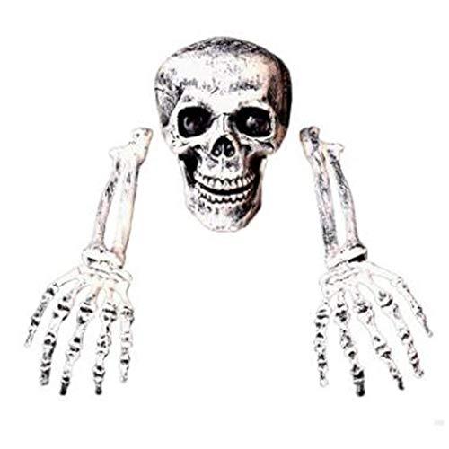 ZengBuks Lustiger schrecklicher Halloween-Horror begraben lebendiges Skelett-Schädel-Garten-Yard-Rasen-Dekoration-Halloween-Dekorationen - Weiß