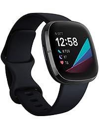 Fitbit Sense - Smartwatch Evoluto con Strumenti per la Salute del Cuore, Gestione dello Stress, Monitoraggio della Temperatura Cutanea, Carbon/Graphite