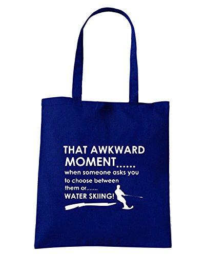 T-Shirtshock - Borsa Shopping OLDENG00306 awkward moment volley ball designs Blu Navy