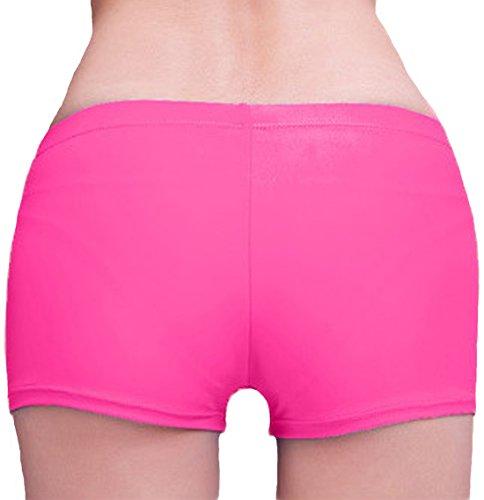 Damen Badeshorts Bikinihose Badeshorts Schwimmshorts Yoga Shorts Hotpants Rosa