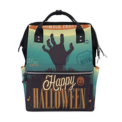 Halloween Aufregende Zombie Hand Große Kapazität Windel Taschen Mummy Rucksack Multi Funktionen Windel Krankenpflege Tasche Tote Handtasche Für Kinder Babypflege Reise Täglichen Frauen