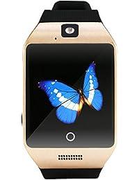 zolimx Q18S elegante reloj Bluetooth GSM cámara TF tarjeta reloj (oro)