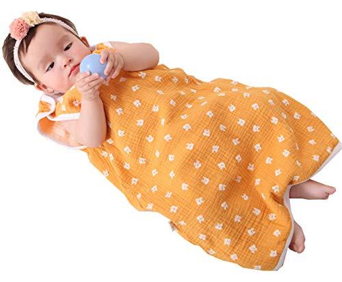 Chilsuessy Sommerschlafsack Baby Schlafsack Sommerschlafsack 0.5 Tog Kinder Schlafanzug Babyschlafsack Ärmellos für Neugeborene 100% Baumwolle, Katze, L/Baby Hoehe 80-90cm