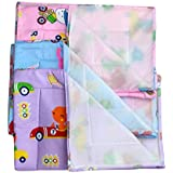 Dazzle Baby Diaper Changing Mat Plastic Mat One Side Plastic Mat Washable Mat Combo Of 3