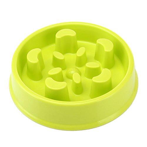 Slow Eating Pet Bowl Three Musketeer Dog Feeder Healthy Design Bowl For Cat Dog Pet (Grün) -