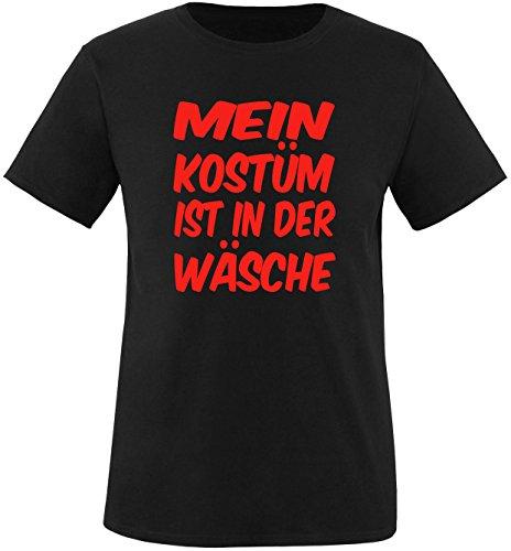 Luckja Mein Kostüm ist in der Wäsche Herren Rundhals T-Shirt Schwarz/Rot