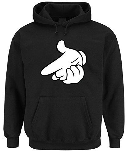 Dope Hands Shoot Hooded Felpa Nero Certified Freak-XXL
