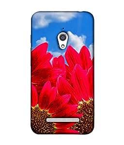 Asus Zenfone Go Back Cover, Asus Zenfone Go Back Case Red Sunflowers Design From Printvisa