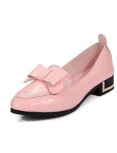 ShangYi gyht Scarpe Donna-Ballerine-Casual-Punta arrotondata-Piatto-Finta pelle-Nero / Rosa / Bianco White