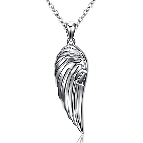 Kaletine Sterling Silver Angel Wing Pendant Necklace 925 16in + 2in Cable Spring Ring Chain