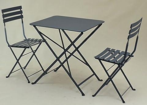 TABLE PLIANTE EN METAL « TROQUET », FORMAT: 60X70 cm, UNE TABLE DE PROFESSIONNELS POUR CHEZ VOUS !!! (Coloris: blanc ou gris anthracite). (GRIS