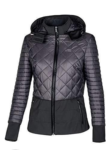 Equiline Damen Jacke GIUDY mit Kapuze, schwarz, Eq18_FS_Gr.:M
