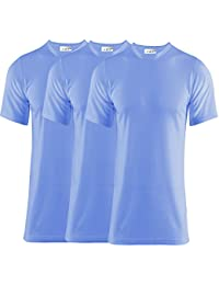 Pack Of 4 Men's Extreme Hot 0.45 Tog Thermal Underwear Short Sleeve Vest Blue Small Size Free Post