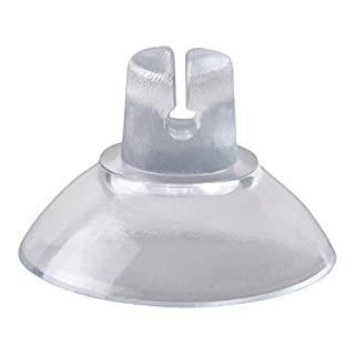 50s-Pack Suckers for Fairy Lights, 20 mm Saugnap Slotted Vacuum Suction Cups Hook, 50 Pieces