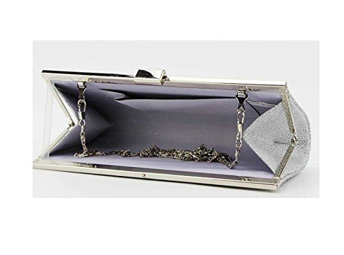 Donne Mobil Sacchetto Di Sera Delle Nuove Signore Di Diamante Della Moda Di Telefonia Cosmetici Bag Silver