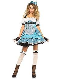 Leg Avenue Costume Rebelle Alice au Pays des Merveilles pour Femme Bleu Clair Taille S