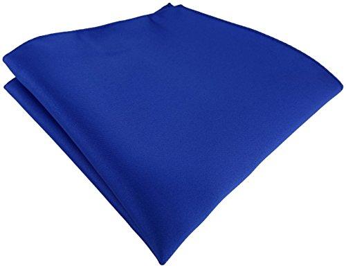 TigerTie Satin Einstecktuch in royal einfarbig Uni - Tuch Polyester - Größe 26 x 26 cm Royal Polyester Satin