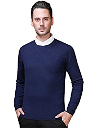 Zicac Pull à Manches Longues Col Ronde Slim Homme
