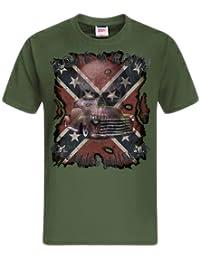 Hot Rod Rods Rockabilly Chevy Pickup Skull Camisetas