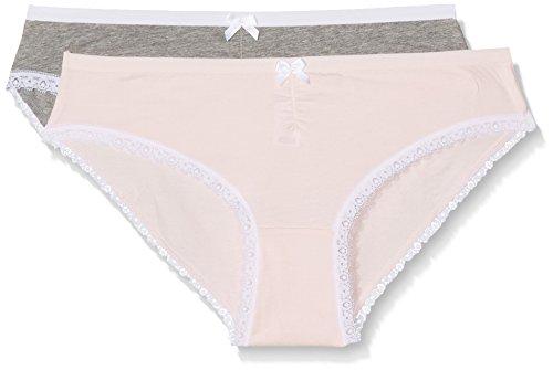 Dim Damen Taillenslip bunt Einheitsgröße Mehrfarbig (grau / Rosapuder)