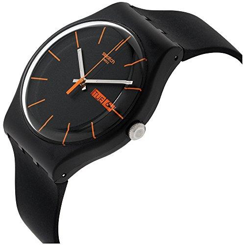 Swatch Unisex-Armbanduhr Dark Rebel Analog Quarz Plastik SUOB704 - 2