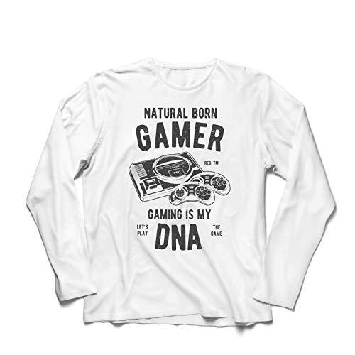 irts geborener Spieler, das Spielen ist Meine DNA, Lass Uns das Spiel Spielen (XXXXX-Large Weiß Mehrfarben) ()