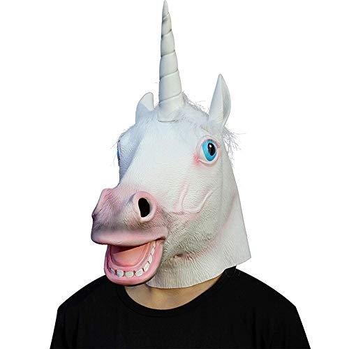 Circlefly Halloween-Einhorn Maske Ostern Maskerade Party tiermaske Eco Latexmaske