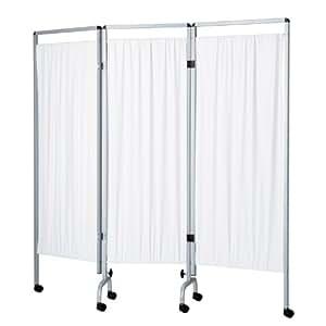Paravent - 3 panneaux - Blanc - PVC - 2X700 et 1x600