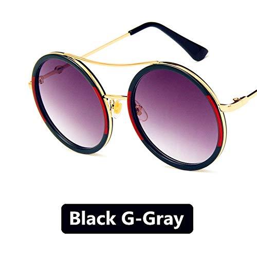SUNNYTYJ Sonnenbrillen Männlich Weiblich Metall Sonnenbrille Gold Vintage Kreis Sonnenbrille Weibliche Runde Prinz Sunglass Frauen Männer Legierung