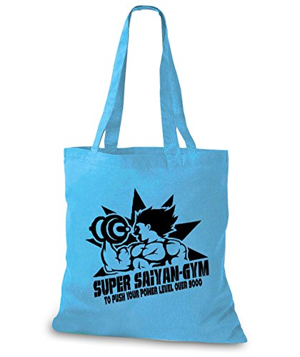 StyloBags Jutebeutel / Tasche Super Saiyan Gym Sky