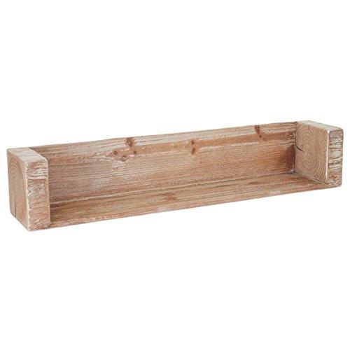 Mendler Wandregal HWC-A15, Hängeregal Bücherregal, Tanne Holz rustikal massiv ~ 104cm