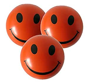 3 x Stress Balls in Orange by StressCHECK - Sensory Toys - Squeezy Ball for ADHD & Autism