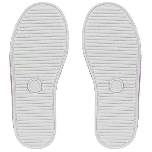 Aerusi Femme Cozy Slide Pantoufles Peluches Ultra Légers Doux Souple Pour Maison / Intérieur Lavande