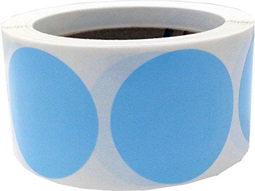 Bleu Bébé Cercle Point Autocollants, 51 mm 2 Pouces Ronde, 500 Étiquettes sur un Rouleau